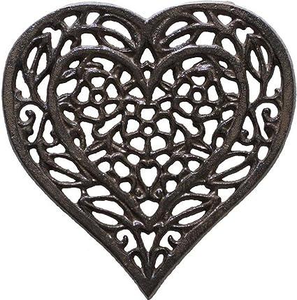 Cast Iron Heart Trivet