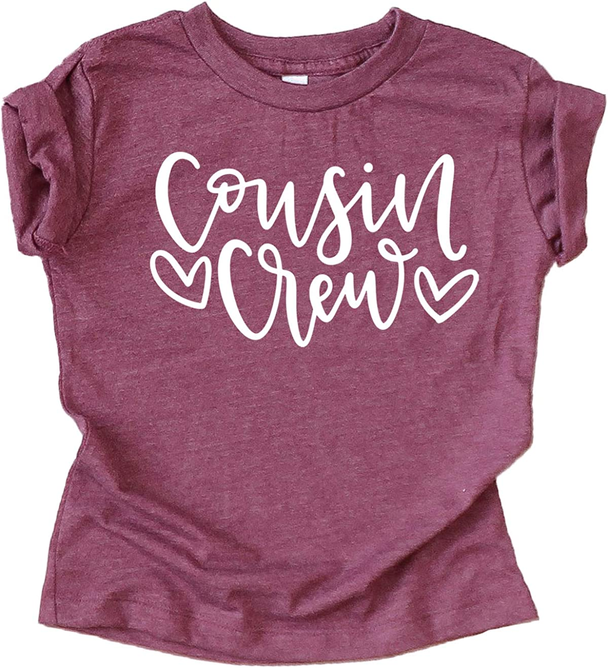Cousin Heart T-Shirts and Bodysuits for Baby and Toddler Girls Fun Family Outfits