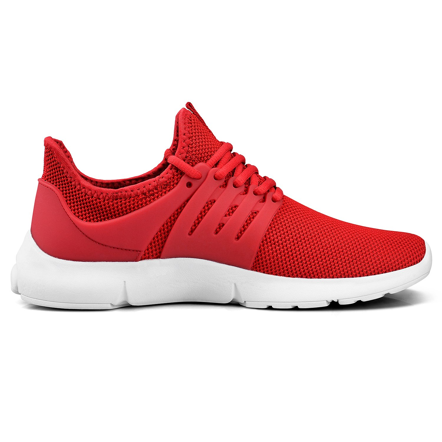 Troadlop Womens Running Sneakers Ultra Lightweight Breathable Mesh Walking Athletic Shoes(Size 5.5-13 US) B07D3XMYQ5 9 M US|Red/White