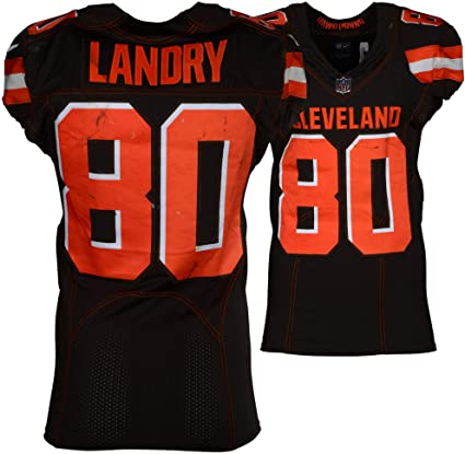 on sale f80ee 97c77 Jarvis Landry Cleveland Browns Game-Used Brown #80 Jersey vs ...