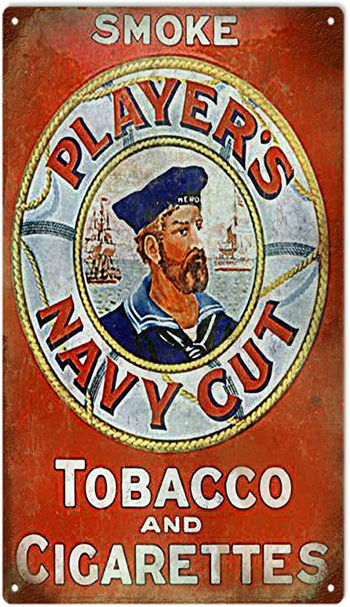 Vintage Navy cut brand tobacco advert   Poster reproduction. Players please