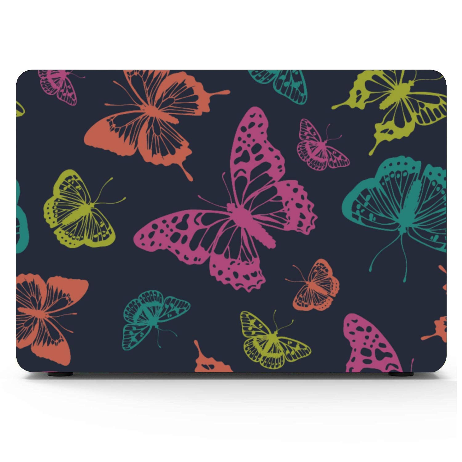 Mac Book Air Covers Spring Cute Butterfly Bee Flower Plastic Hard Shell Compatible Mac Air 11 Pro 13 15 MacBook Air Protective Cover Protection for MacBook 2016-2019 Version