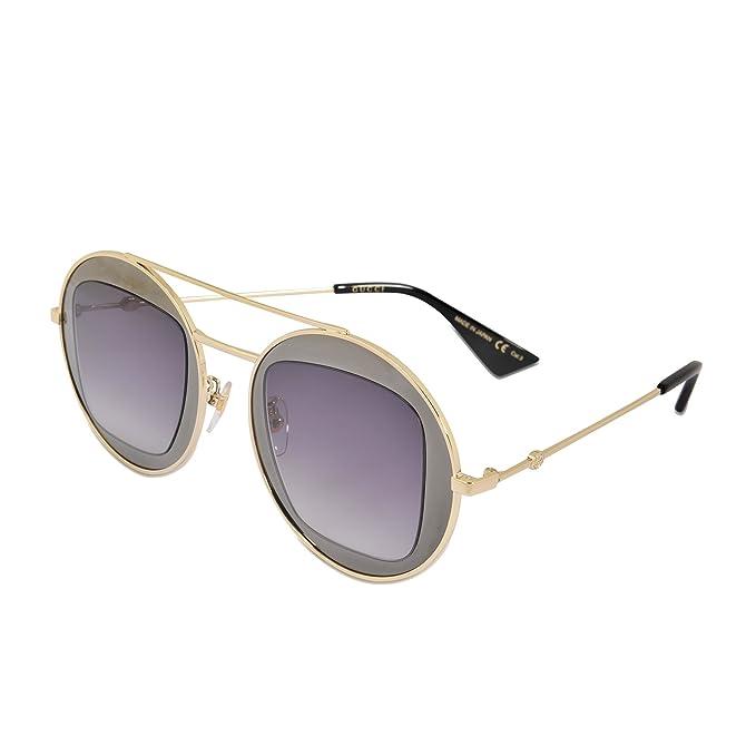 nuovo stile scarpe da corsa comprare bene Gucci Occhiali da sole Donna GG0105S-001 47 Ruthenium gold ...