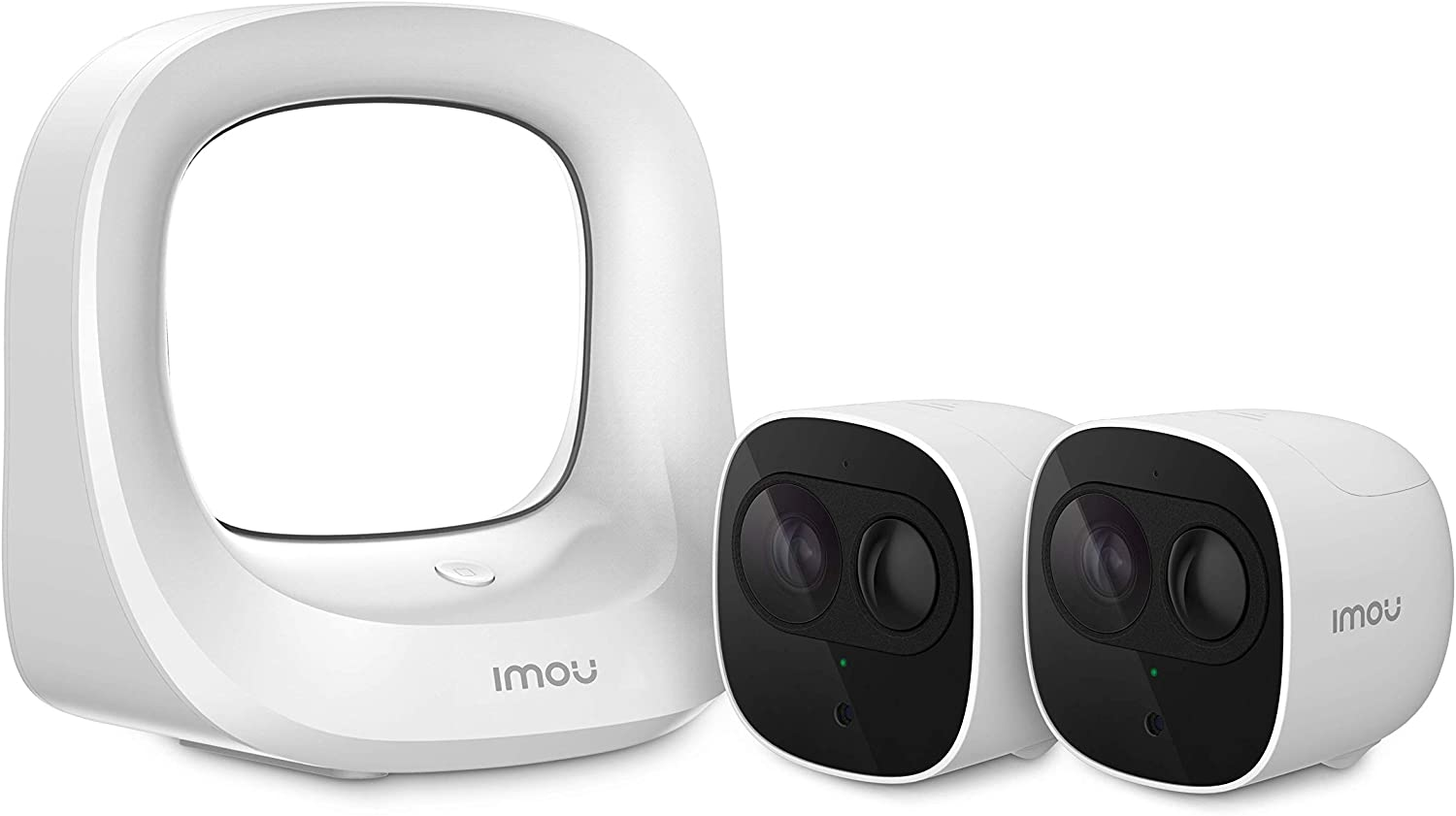 Imou Cell Pro: Outdoor Smart Security Camera, Wire-Free, 1080p, Rechargeable Battery, PIR Detection, Night Vision, IP65 Weatherproof, Diversified Cloud Storage (Includes 1 HUB + 2 Security Cameras)