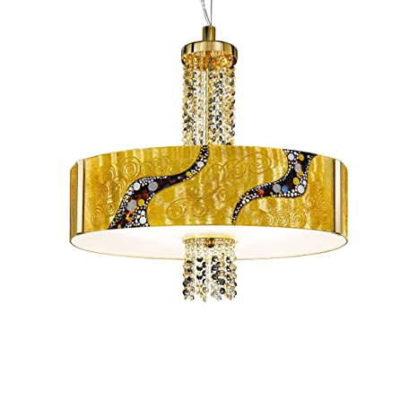 Lámpara de techo Kolarz Emozione Kiss 24 dorada hecha a mano ...