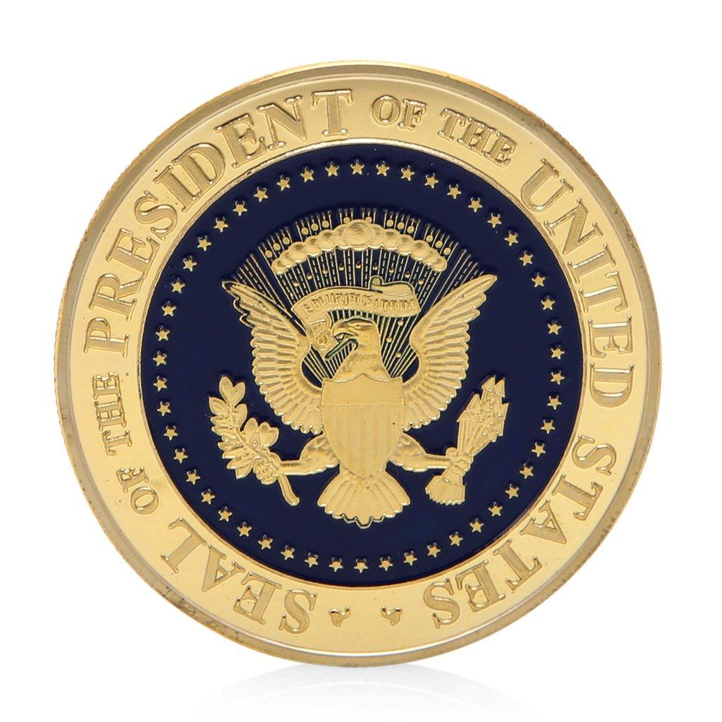 Moneda de regalo conmemorativa Lhuaguo 45th President of The United States Donald Trump