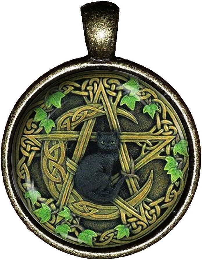 Baphomet Devil Satan Pentacle Occult Wiccan Pagan Necklace Pendant
