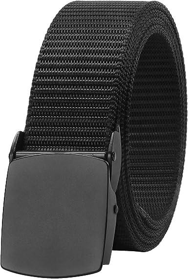Shonlinen Outdoor Web Belt,Military Tactical Adjustable Survival Solid Nylon Outdoor Waist Belt Belts