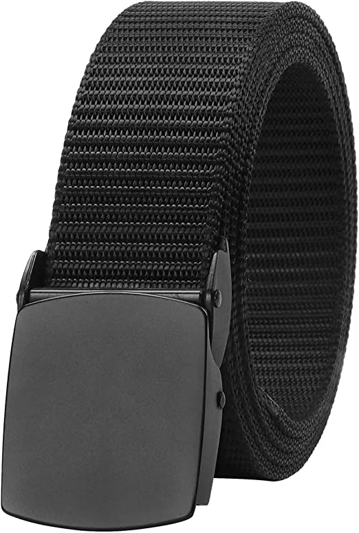Canvas Web Belts For Men Tactical Military Mens Nylon Waist Belt With Plastic Buckle 2 Pack by SUOSDEY