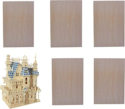 Amazon Com 5 Pieces 1 16 8 12 Inch Unfinished Basswood Sheets Thin Plywood Crafts Wood Sheets For Building Model Project