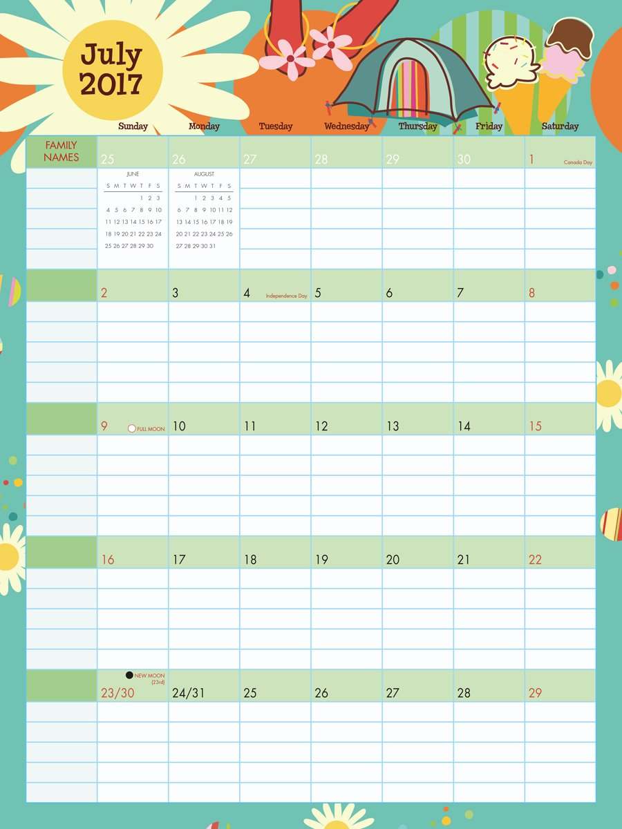 photograph regarding Family Planner Calendar named Fast paced Family members Planner 2017 Wall Planner Calendar: Sybille