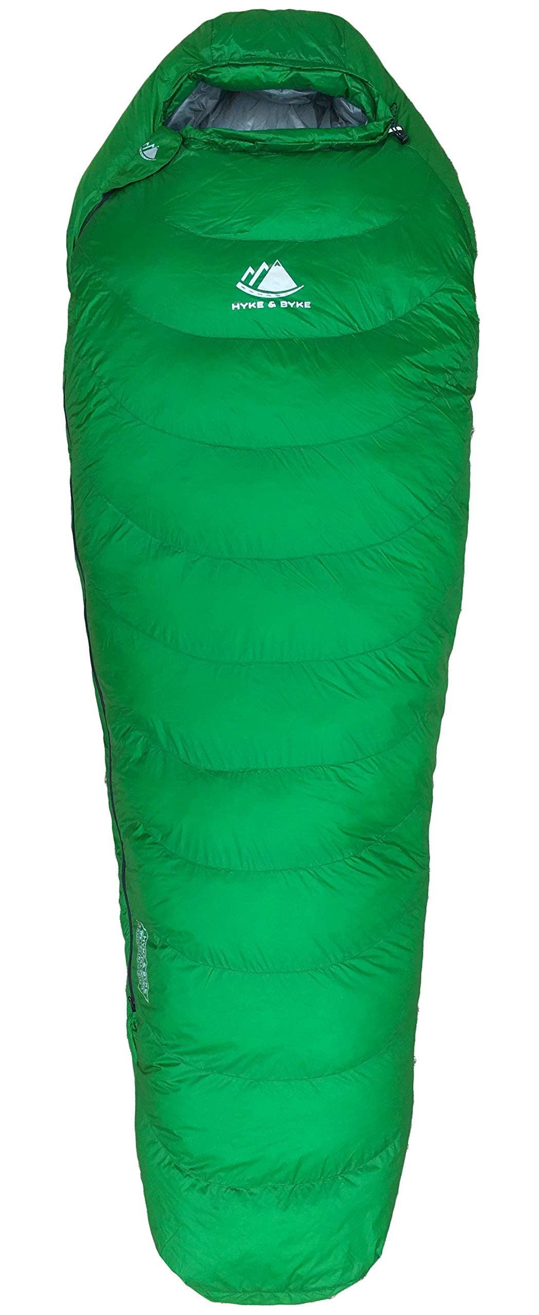 0 Degree Backpacking Sleeping Bag - Zero F Ultralight Mummy Bag for Cold Weather, Lightweight Synthetic Goose Down Like 625 Fill Power Bag For Men's and Women's Winter Camping (Forest Green, Regular) 4