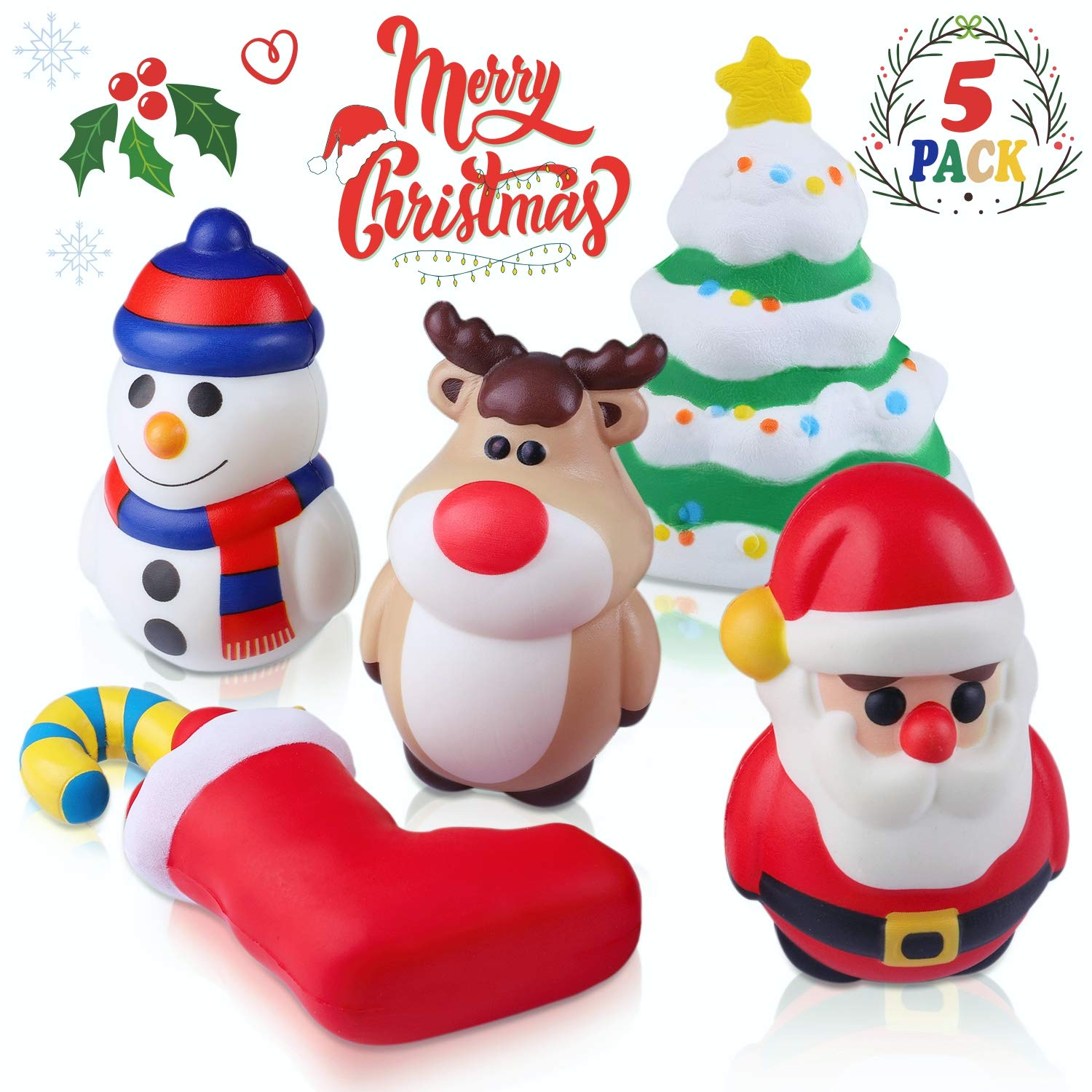 fc05bdea9a163 Amazon.com  Jeicy Christmas Squishy Toys Includes Santa