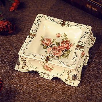 Liuyu · Mode Carré Cendrier Céramique Maison Lace Vie Rose De Yfyb6g7