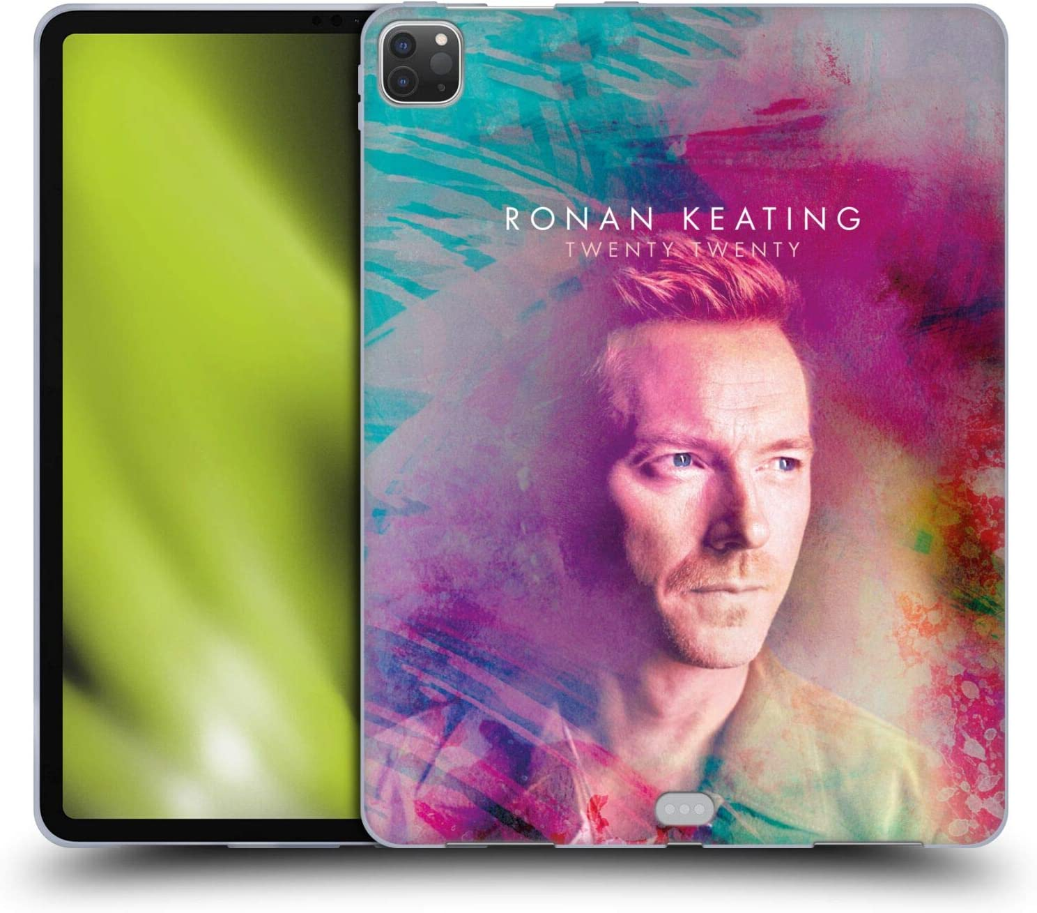 Head Case Designs Officially Licensed Ronan Keating Key Art Twenty Twenty Soft Gel Case Compatible with Apple iPad Pro 12.9 (2020 / 2021)