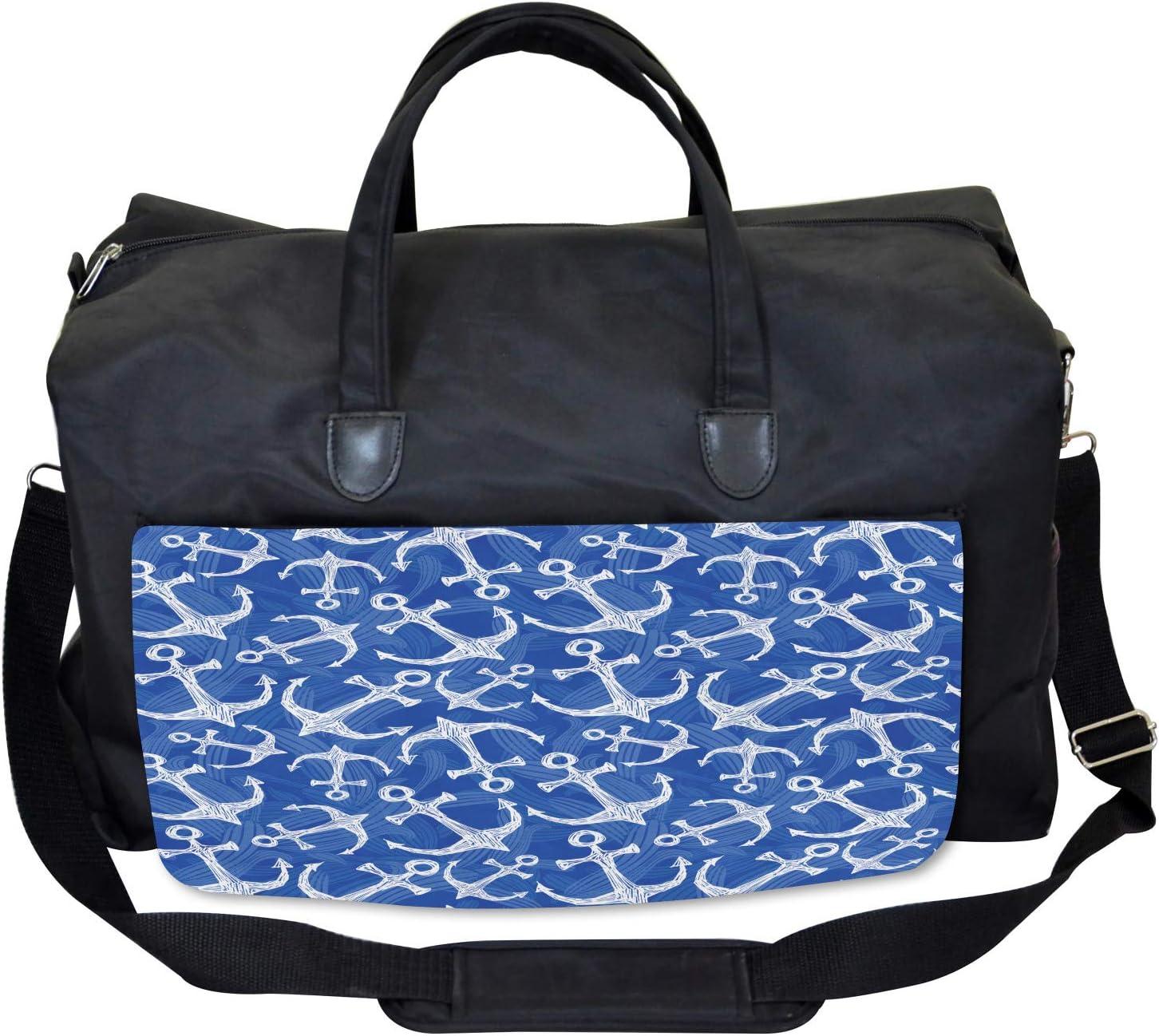 Large Weekender Carry-on Marine Life Equipments Ambesonne Ocean Gym Bag