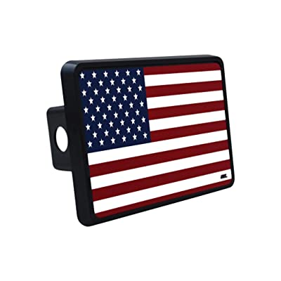 Rogue River Tactical USA American Flag Trailer Hitch Cover Plug US Patriotic Old Glory: Automotive
