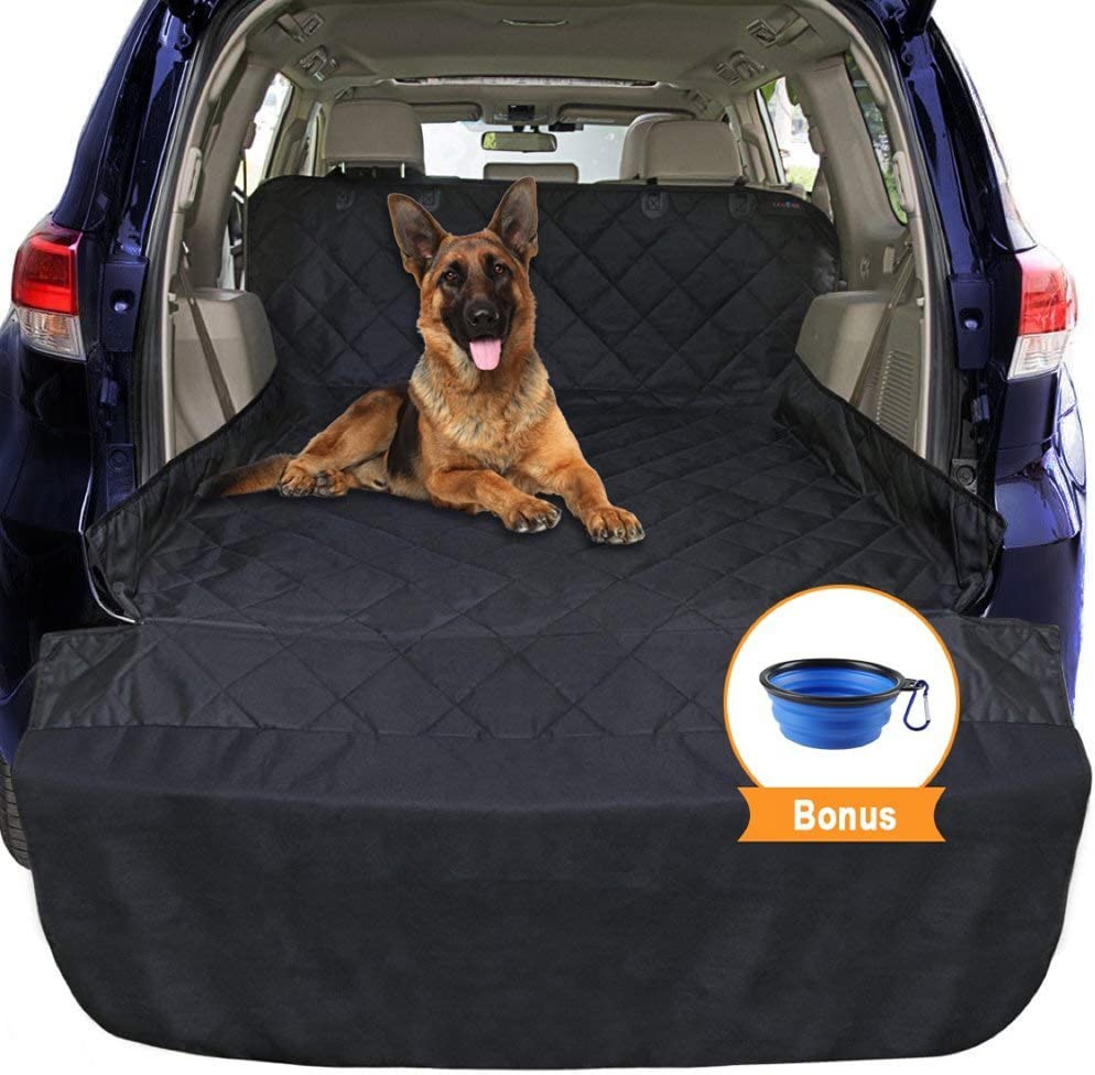 ledorr Dog Car Seat Cover, Trunk Cargo Liner, Universal Fit Pet Seat Cover for Cars, Trucks SUVs, Waterproof Nonslip Washable Pet Mat