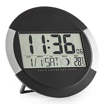 Oneconcept Clockwork Reloj Digital de Pared o Apoyo (termómetro, Calendario, día, Mes