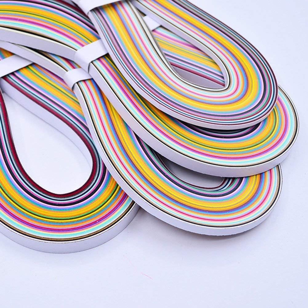 PULABO 36 couleurs Quilling Gradient Paper Strips Ruban Paper Quilling Set 54cm 3mm Artisanat en papier DIY Origami Pack de 180 New Released /Ça marche