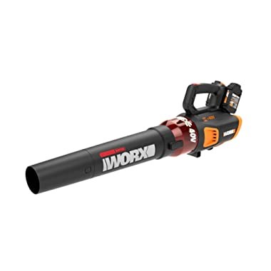 WORX WG584 2x20V (2.5Ah) Power Share TURBINE Blower, 430 CFM, 2 Batteries and Dual Charger Included