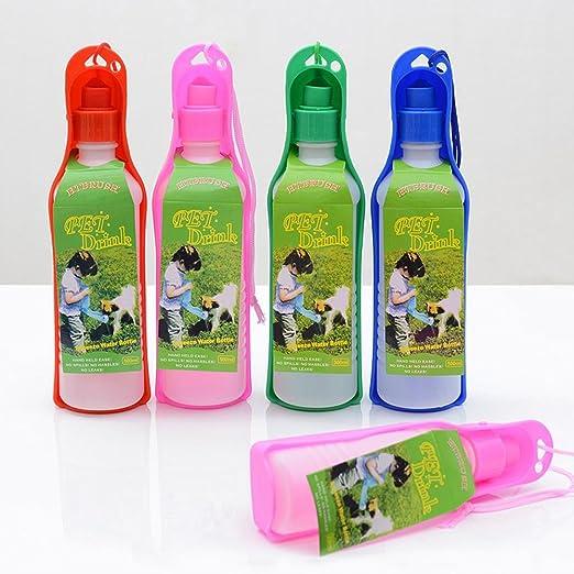 AOLVO - Botella de Agua portátil para Perro, 500 ML, dispensador de Agua de Viaje, Taza portátil para Perros, Gatos, Cachorros y Otros Animales pequeños ...