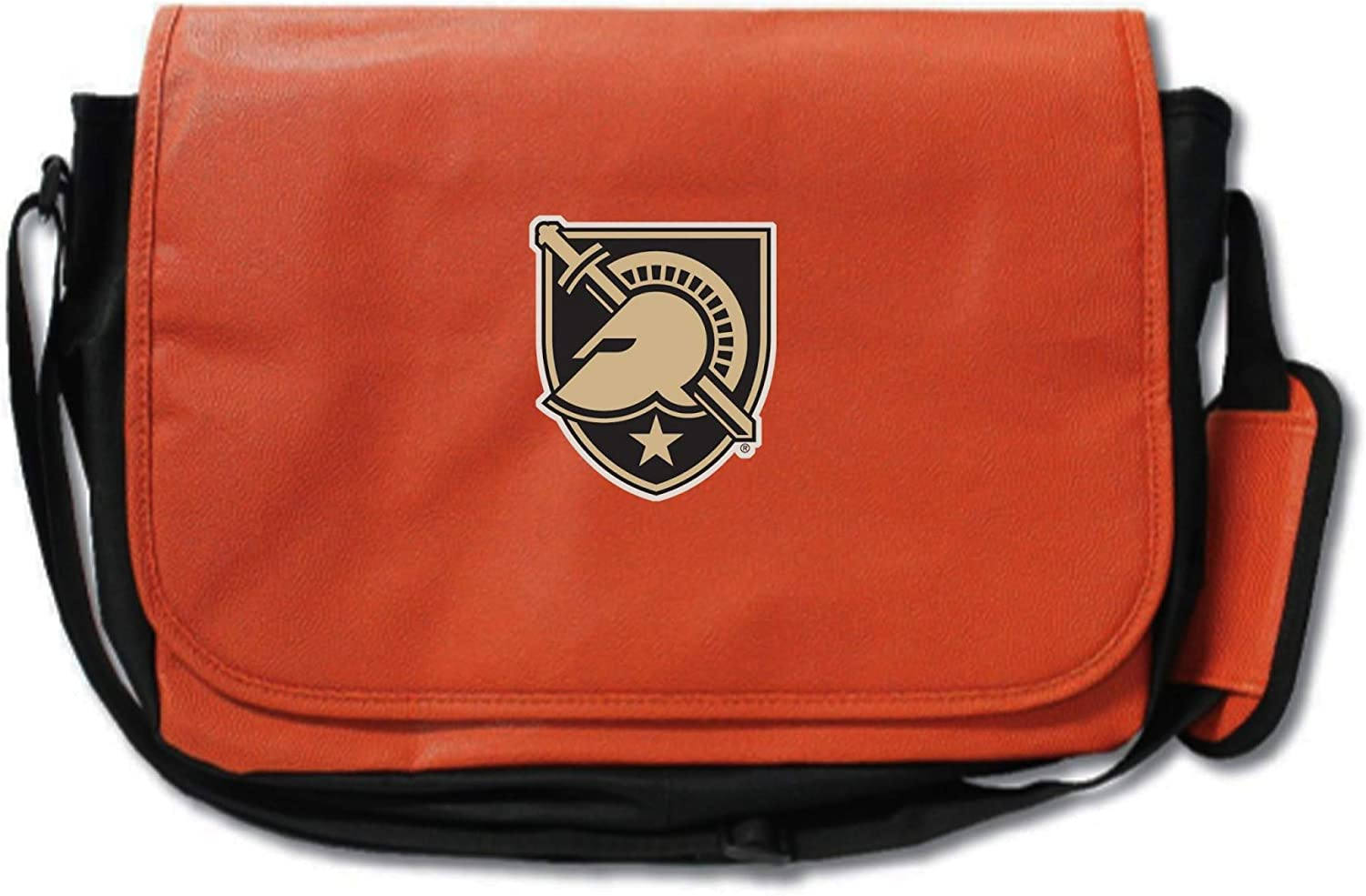 made from actual basketball materials Army Black Knights Basketball Leather Laptop Computer Case Messenger Shoulder Bag Orange