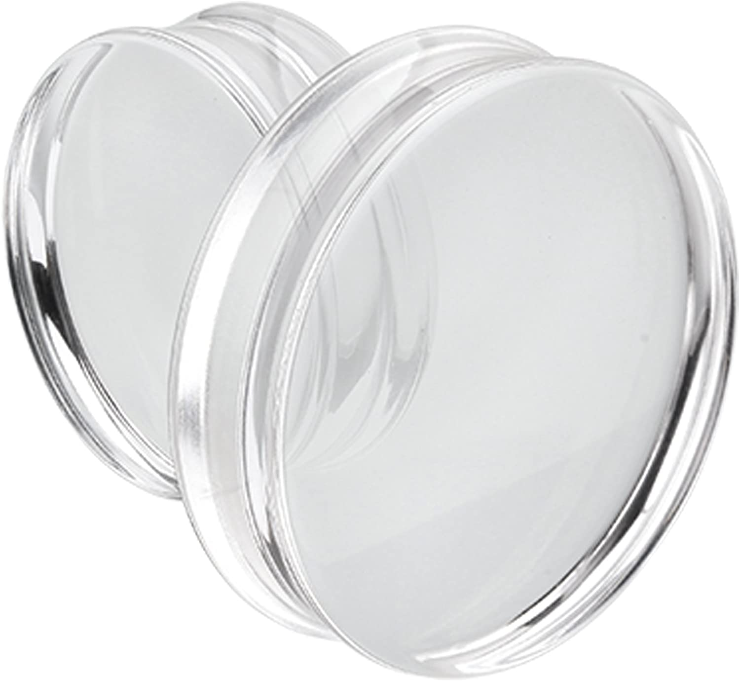 Black Basic Acrylic Double Flared Ear TunnelsSold as Pairs