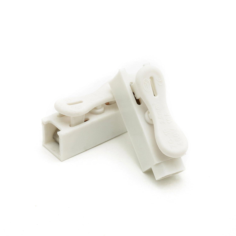 suyep zq-1p primavera Conectores de alambre abrazadera de cable elé ctrico bloque de terminales, blanco, ZQ-1P