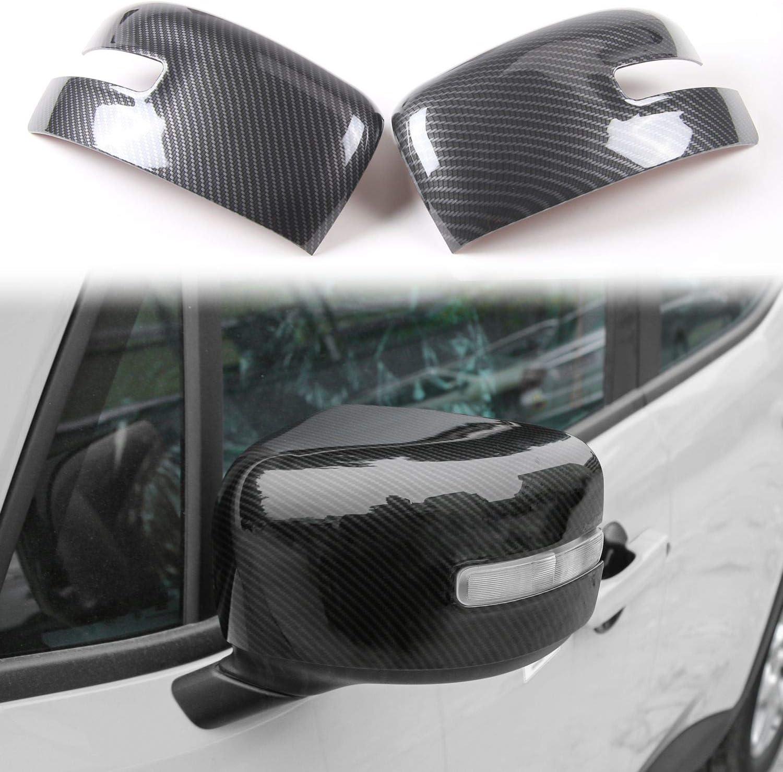 RT-TCZ Exterior Rear-View Mirror Cover Rear-Version Mirror ABS Trim Rear View Cover ABS Rear Version Frame Bezel Decor for Jeep Renegade 2015-2021 Carbon Fiber