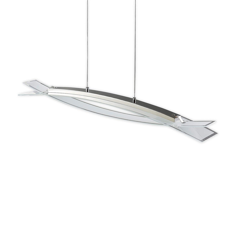 Lampenwelt LED Pendelleuchte 'Elina' (Modern) in Chrom aus Metall u.a. für Wohnzimmer & Esszimmer (4 flammig, A+, inkl. Leuchtmittel) | Hängeleuchte, Esstischlampe, Hängelampe, Hängeleuchte
