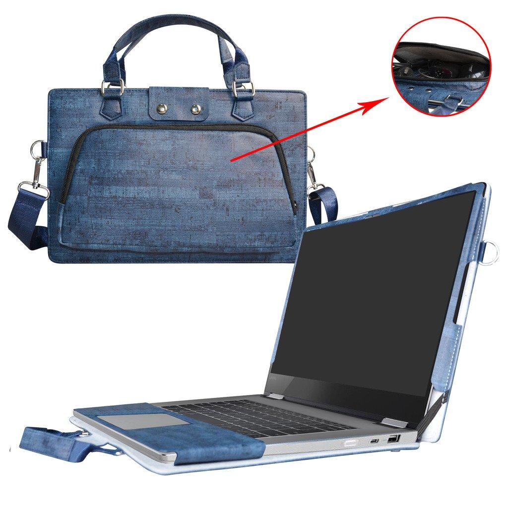 Labanema Yoga 720 15 Housse,2 en 1 sp/écialement con/çu /Étui de Protection en Cuir PU Sac Portable Sacoche pour 15.6 Lenovo Yoga 720 15 720-15IKB Ordinateur,Rouge