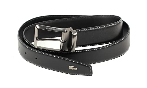 LACOSTE Curved Belt Stitched Edges W85 Black