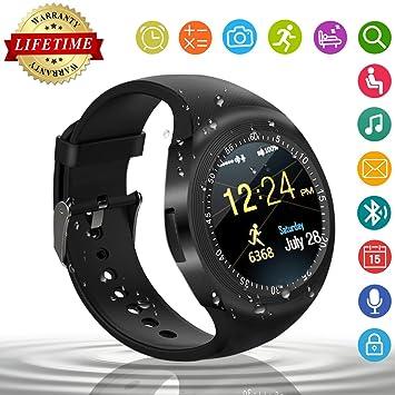 Smart Watch,Relojes Inteligentes Teléfonos Inteligentes Bluetooth Smart Watch Reloj Inteligente Hombre Mujer Niño Reloj Deportivo Reloj Camara Soporte SIM ...
