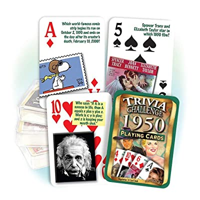 Flickback 1950 Trivia Playing Cards, 70th Birthday Gift: Sports & Outdoors