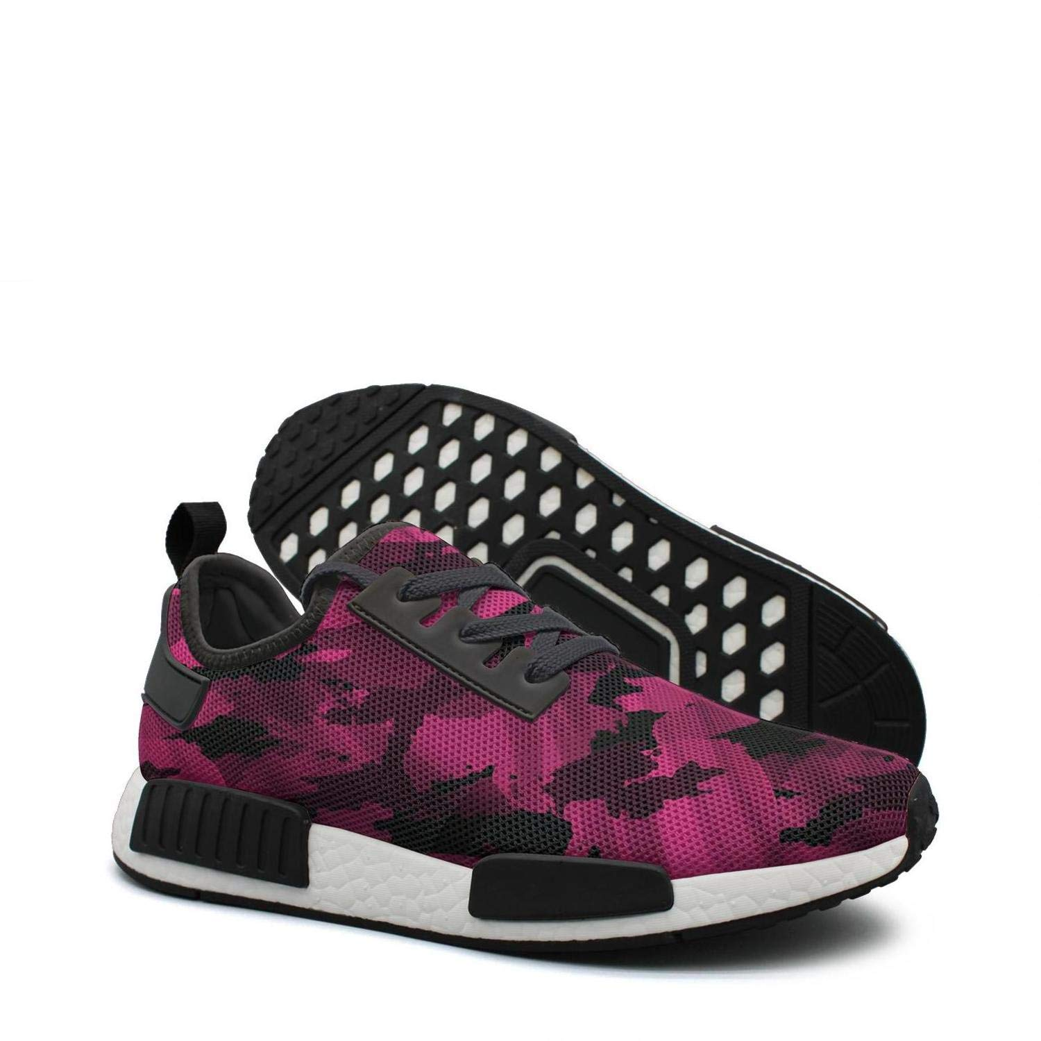factory authentic 61695 c7494 Amazon.com: Pink camo logo youth women running shoes nmds r1 ...