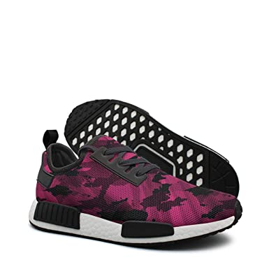 0a4169896163d Amazon.com  Pink camo logo youth women running shoes nmds r1  Clothing