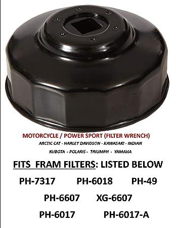 Amazon.com: Llave de filtro de aceite APSG para motocicleta ...