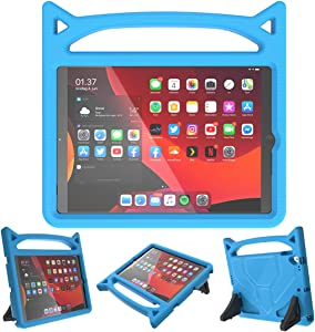 """SUPLIK Kids Case for New iPad 8th Generation-10.2"""" 2020 / iPad 7th Gen-10.2"""" 2019 / Air 3rd Gen 10.5 inch / Pro 10.5, Durable Shockproof Protective Handle Stand Case for iPad 7/8/Air 3, Blue"""