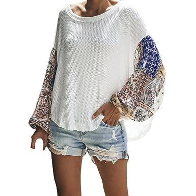 ABsolute Camiseta ❤ Blusa de Costura Floja de Las Mujeres,Las Mujeres Ocasionales más