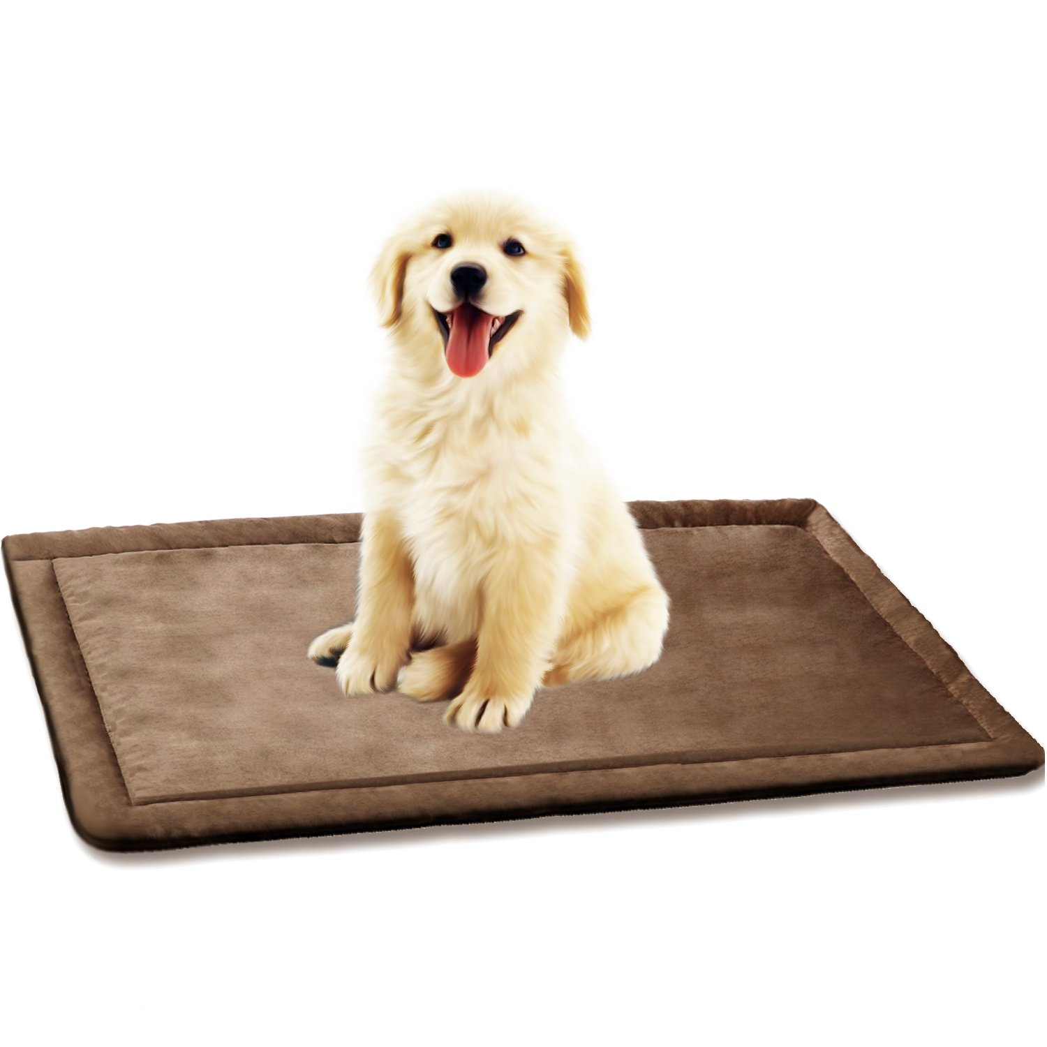 SHU UFANRO Dog Cushion Cover Dog Bed for Crate Dog Kennel Mat Pet Bed Mattress Washable Pad for Pet Cat 35'' x 23''