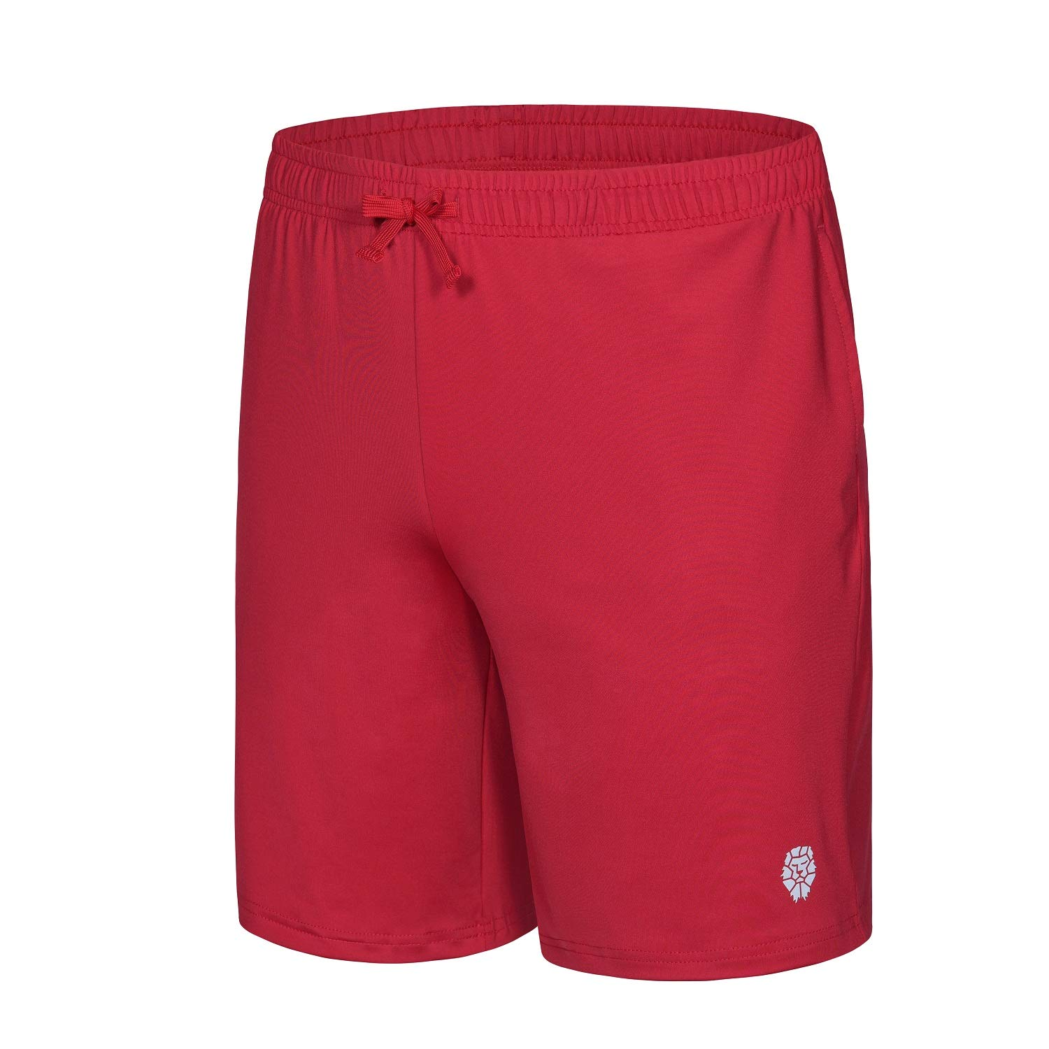 PIQIDIG Youth Boys' Loose Fit Athletic Shorts Quick Dry Active Shorts with Pocket, 2-Pack (Red(1-Pack), X-Small) by PIQIDIG