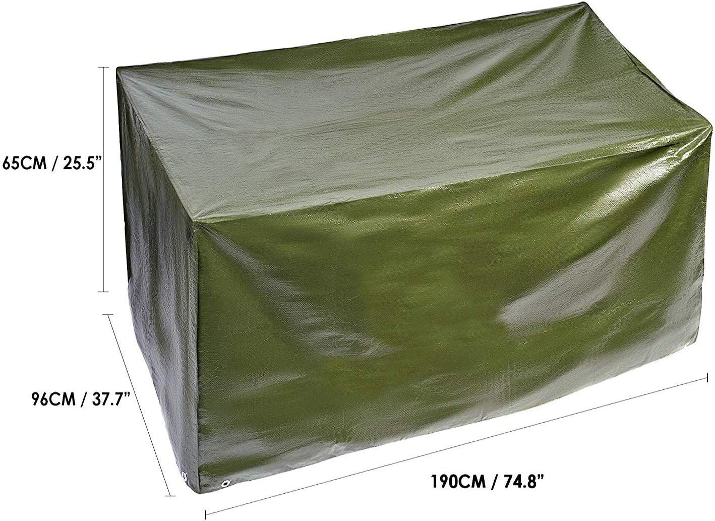 BRAMBLE! Funda para Muebles de Jardín Exterior, Rectangular 190x96x H65cm| Impermeable, Anti-UV, Resistente, Ligero y Fuerte| Cubierta Protección Exterior para Mesa Sillas Sofás.