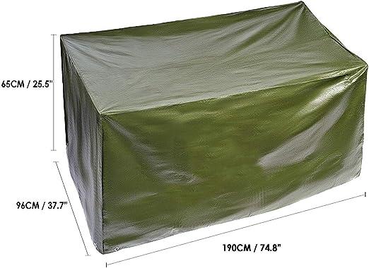 BRAMBLE! Funda para Muebles de Jardín Exterior, Rectangular 190x96x H65cm| Impermeable, Anti-UV, Resistente, Ligero y Fuerte| Cubierta Protección Exterior para Mesa Sillas Sofás.: Amazon.es: Hogar