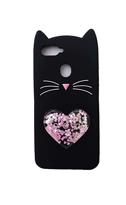 various colors d8c62 b002f FancyArt Love Cat Heart Design Soft Silicon Back Cover for Oppo Realme 2  Pro (Black)