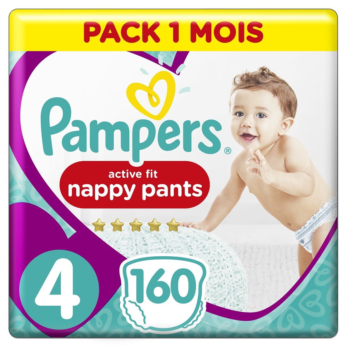 Pampers - Active Fit Pants - Couches-culottes Taille 6 (+15 kg) - Pack 1 Mois (x116 culottes) 8001090840561