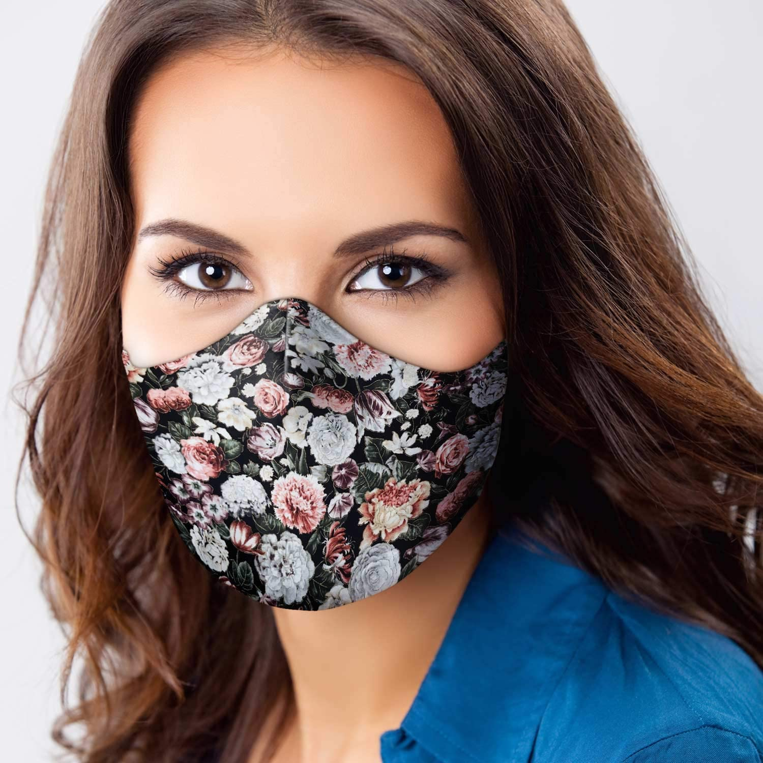 Washable With Filter Pocket Made in USA by Veteran Owned Business Adjustable Face Cover  Mask