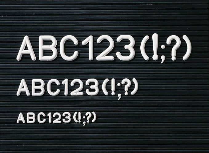 Legamaster - Pizarra con abecedario (en Caja, 288 Piezas, 12 mm), Color Blanco