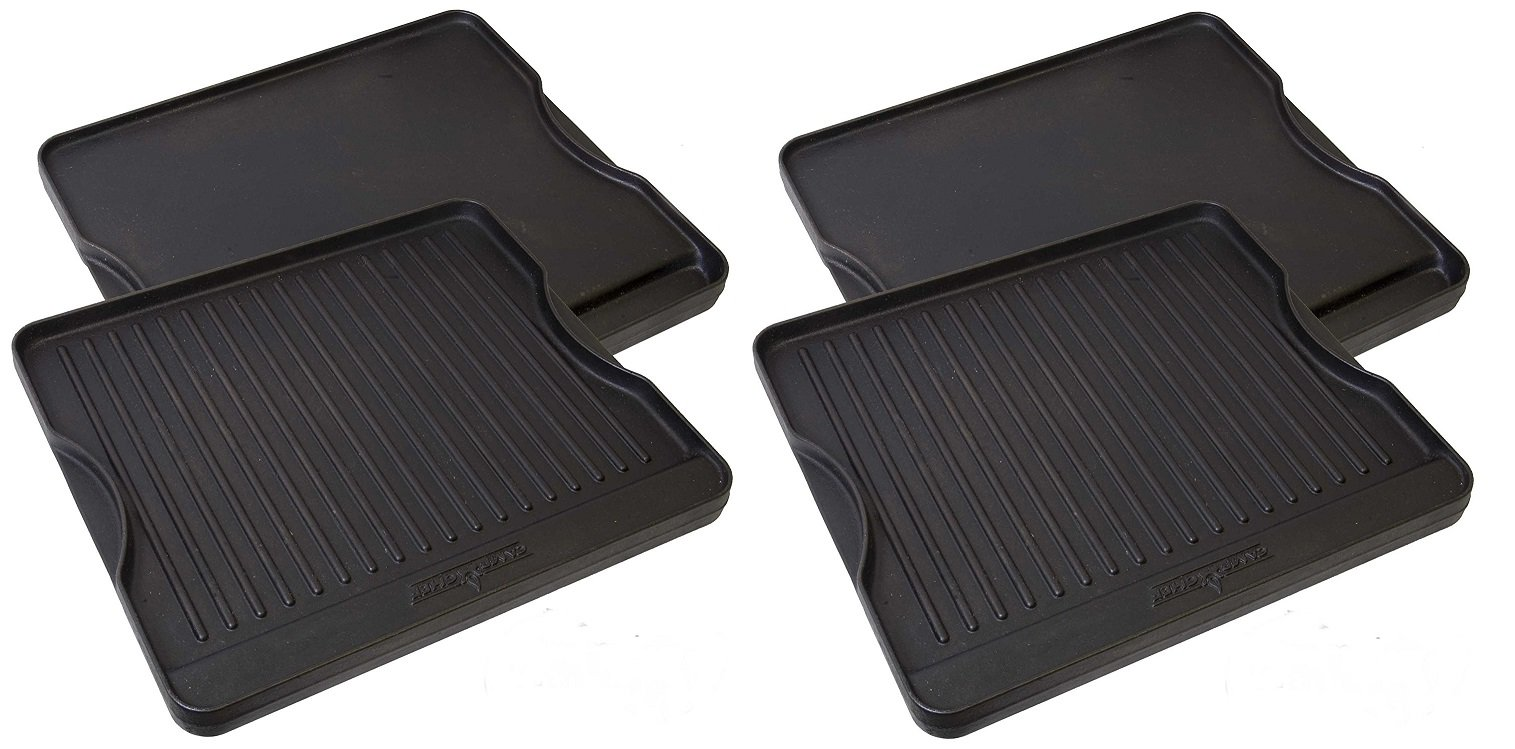 Camp Chef CGG16B Reversible Pre-Seasoned Cast Iron Grill/Griddle (Pack of 2)