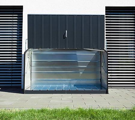 Trimetals - Caja de almacenamiento multifunción para exteriores, medidas: 196 x 89 x 113 cm. Superficie 1,74 m2 - 1500 L.: Amazon.es: Hogar